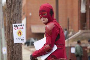 """Rainn Wilson in """"Super"""" (Crimson Bolt)"""