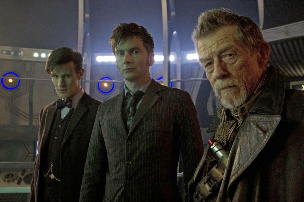 Die drei Doctors der Jubiläumsfolge (Copyright: BBC)