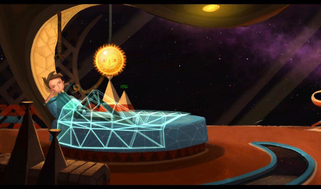 """Das Sci-Fi-Bett von Shay (""""Broken Age""""-Spiel von Double Fine)"""