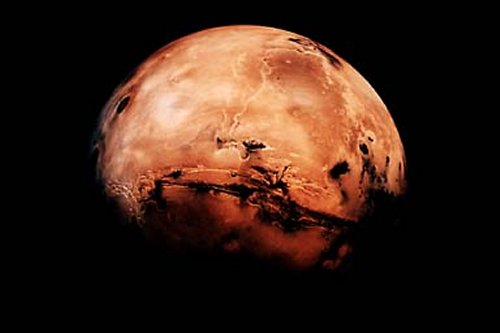 Planet Mars, aufgenommen 1997, Lizenz: CC-BY-NC-ND NASA's Marshall Space Flight Center