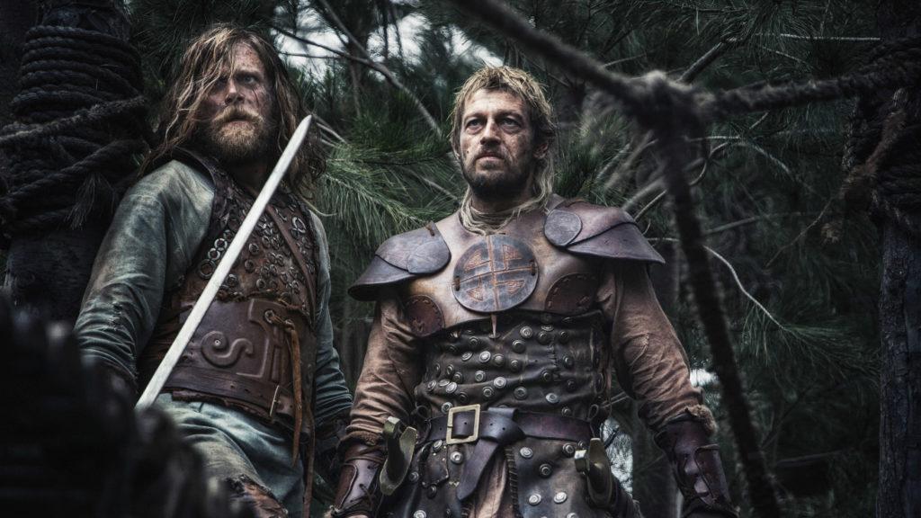 Der Deutsche Darsteller Ken Duken (hier links) spielt auch mit, als Wikinger Thorald (keine Ahnung, an wessen Seite er hier steht, ich glaube das ist Leo Gregory). (Ascot Elite Home Entertainment)