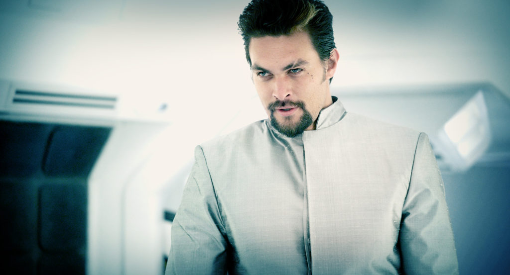 Jason Momoa im Bad-Guy-Modus als Computerprogramm IAM (© 2015 Pandastorm Pictures GmbH)