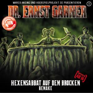 """Das Cover von """"Dr. Ernst Garner (1): Hexensabbat auf dem Brocken"""" (Hoerspielprojekt.de)"""