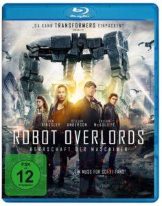 """Die Blu-Ray von """"Robot Overlords"""" (Koch Media) stellt natürlich die beiden A-Lister-Promis in den Vordergrund und versteckt den eigentlichen Protagonisten an den rechten Rand."""