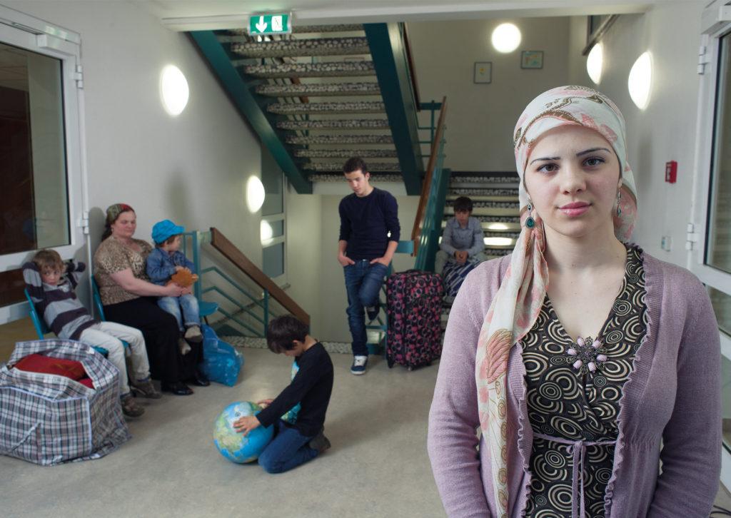 Larisa mit ihrer Mutter und ihren fünf Brüdern aus Tschetschenien. (Foto: Torsten Reimers © Pier53)