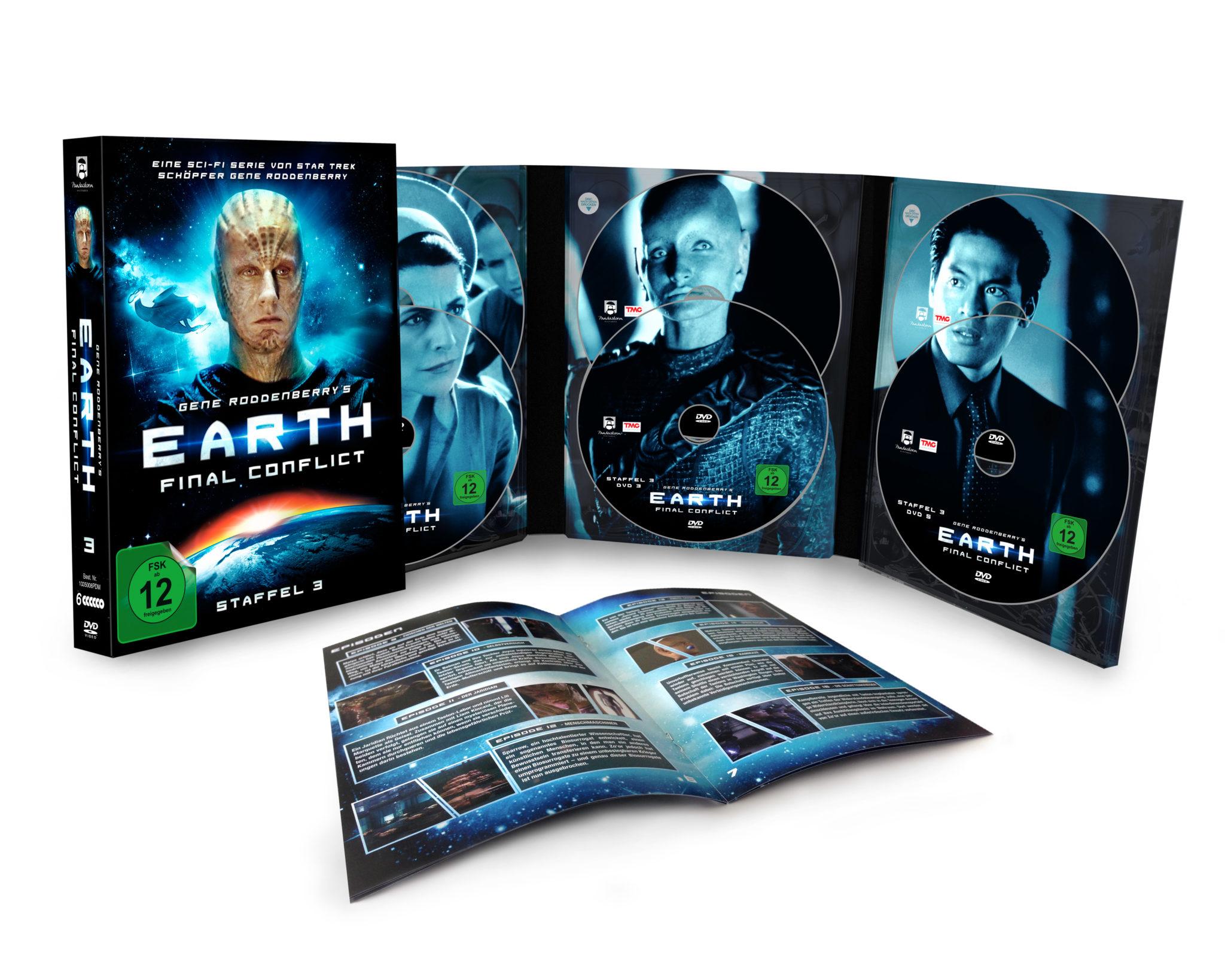 Auch für die dritte Staffel setzt Pandastorm Pictures die hübschen Doppel-CD-Artworks fort.