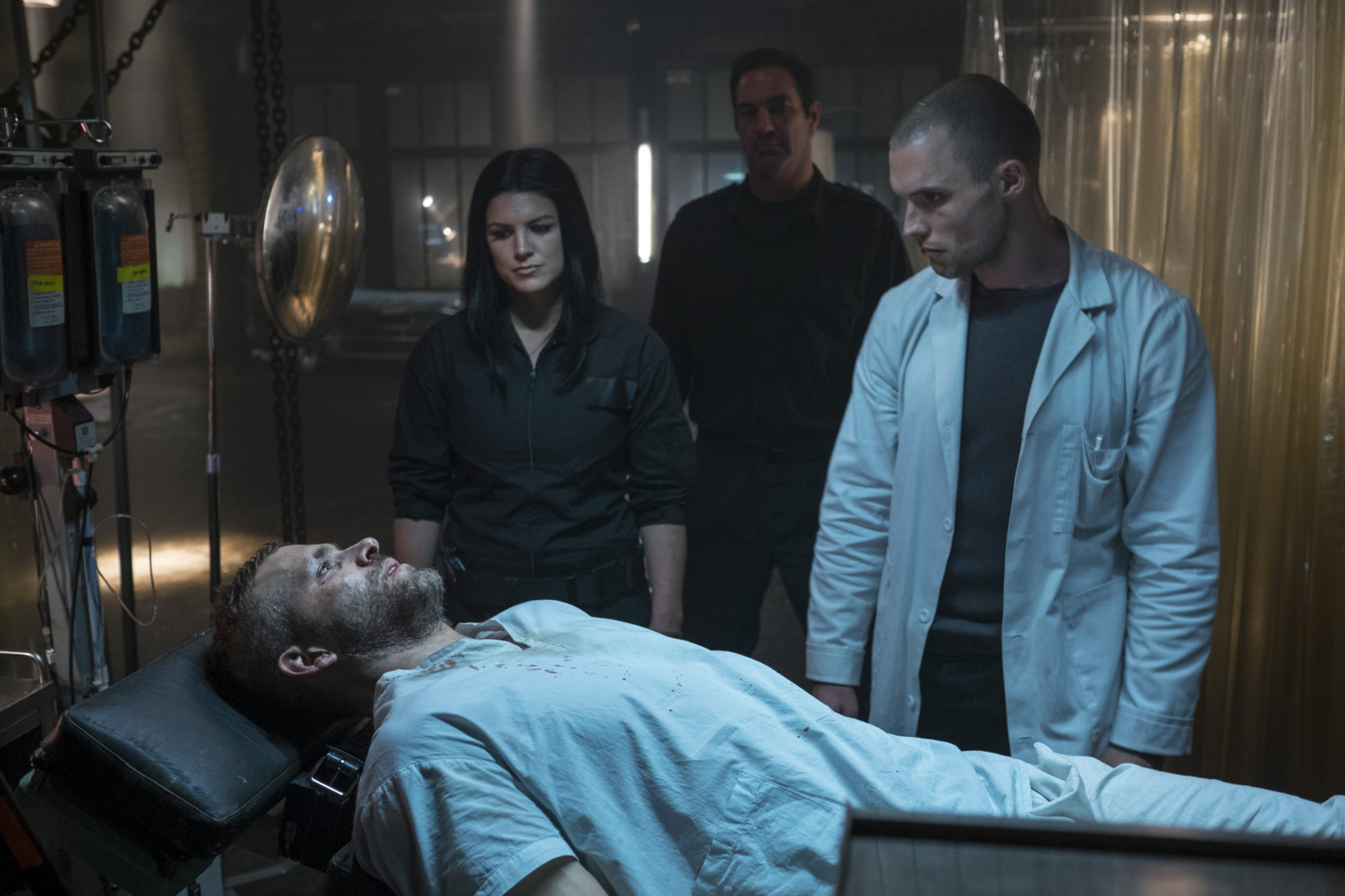 Therapievorschlag: Foltern ( (Ryan Reynolds, Gina Carano und Ed Skrein, Foto: 20th Century Fox))