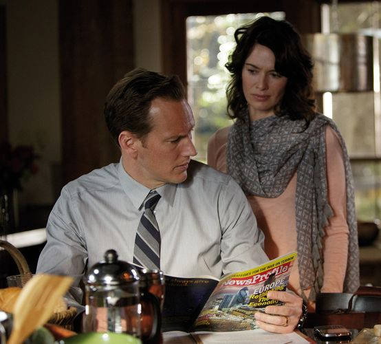 "Noch herrscht trautes Familienglück (Patrick Wilson und Lena Headey in ""Zipper"", Foto: Ascot Elite)"
