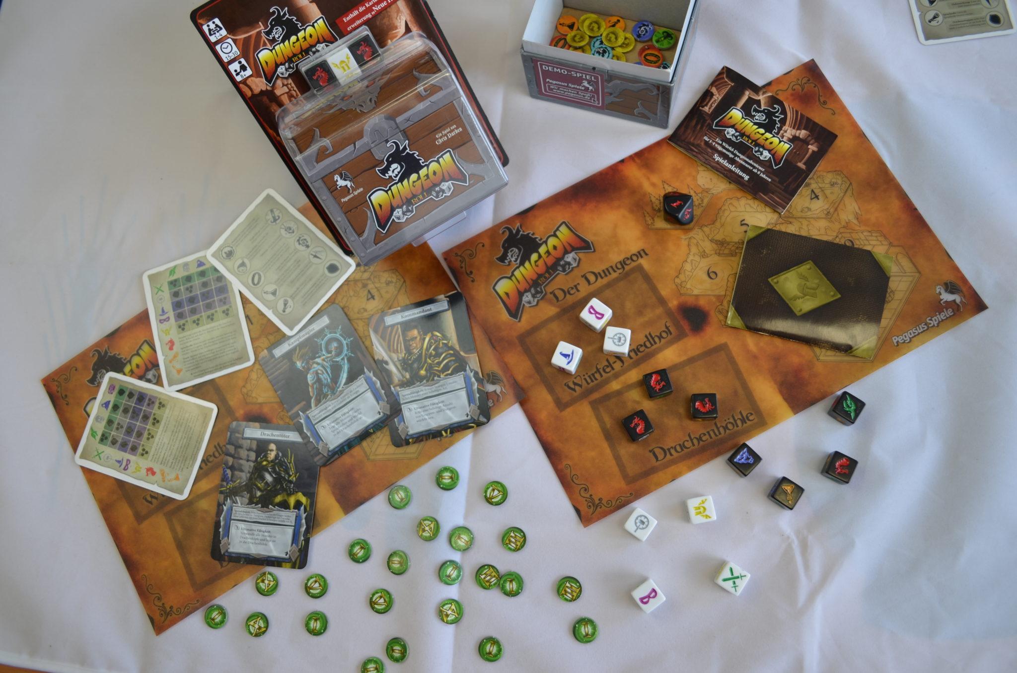 Die Spielbestandteile (Tableaus sind in der Retail-Version nicht inbegriffen, Foto: Pegasus Spiele)