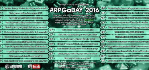 #RPGaDAY2016 – Frage 1 1