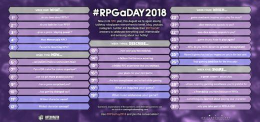 #RPGaDAY 2018 Woche 4 3